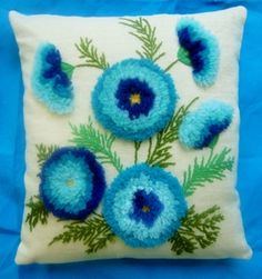 New Pillow made from a Vintage Crewel Embroidery!