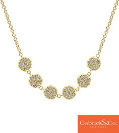 Gabriel & Co. - FALL in love with this must-have 14k yellow gold diamond necklace accessory of the season.