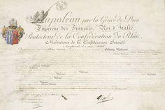 Patrimoine Charles-André COLONNA WALEWSKI - Lettres patentes, signées de Napoléon