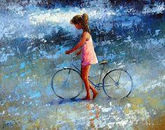 Dima Dmitriev [Дима Дмитриев] (b.Moscow,Russian) ~ Impressionist painter, bike