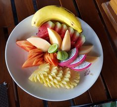 Fruit Platter at Manora Restaurant :Ko Samui