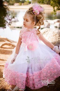 Vestido de princesa fiesta rosetón por MelissaJaneBoutique en Etsy