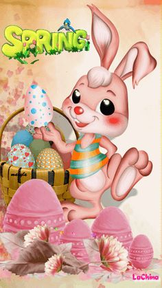 """""""Life is beautiful"""": Photo Easter Wishes, Happy Birthday Wishes, Happy Easter Gif, Ostern Wallpaper, Easter Bunny Pictures, Holiday Gif, Just Magic, Beautiful Gif, Animation"""