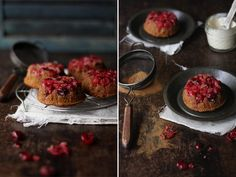 cranberry & almond upside down cakes #glutenfree