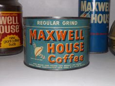 Rare Unopened Vintage Maxwell House Coffee by JandDsAtticTreasures, $38.00