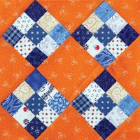 Four By Nine - Bonnie Hunter Instructions to make the Four by Nine block can be found in Bonnie Hunter's Addicted to Scraps column in the Sept/Oct '13 issue of Quiltmaker.