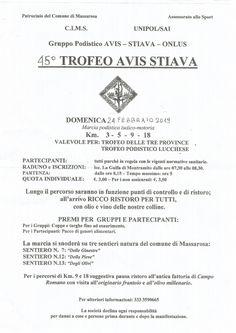 Trofeo Avis Stiava 2019 - 45a edizione si svolgerà il giorno 24/02/2019 a Stiava - Massarosa (Lu) sulla distanza di 18Km, 9Km, 5Km e 3Km. #corriqui Personalized Items