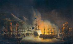 Bombardement d'Alger. Peinture de Martinus Schuman.Le bombardement d'Alger est un bombardement anglo-hollandais de la ville d'Alger Ottomane ayant eu lieu le 27 août 1816.