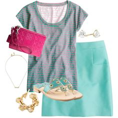 """""""mint and pink"""" by shopwithm on Polyvore"""