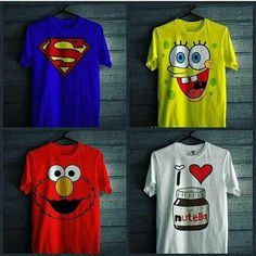 Pack of 4 - Superman, Cartoon, Monster & Nutella T-shirts Men Vs Women, Cartoon Monsters, Deal Today, Nutella, Superman, Mens Fashion, Hoodies, Mens Tops, T Shirt