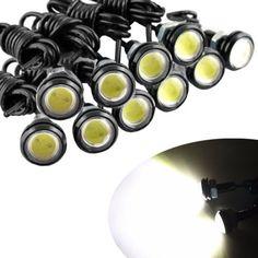 1PCS led drl eagle eye 18mm waterproof cob 12v 9w led car light led daytime running lights car styling auto fog lights parking [Affiliate]