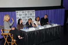 Nashville, Tennessee -- April 22, 2008 -- Laray Mayfield moderates the Actors Turned Filmmakers panel at the Nashville Film Festival. Panelists include MIchelle Paradise, Joey Lauren Adams, Robby Benson & Vincent D'Onofrio. Photo by Beth Gwinn/NaFF