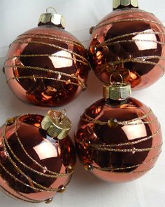 copper colored christmas ornaments  Datastashco
