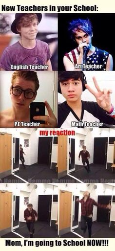 Imagine if 5sos were teachers