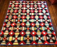 Pineapple Quilt Pattern:  This is ,by far, the most simple quilt pattern I have found online for this block!