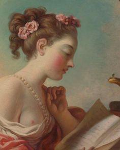 Young Woman Reading (detail), Jean Honoré Fragonard, 1732–1806