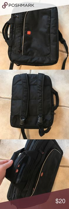 Swiss Army Backpack style computer case Rare backpack style Swiss Army Bags Backpacks