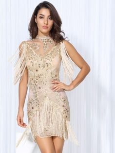 Love&lemonade Exy Golden Lace Tassel Troupe Dress photo ideas from Dresses for Women Sexy Dresses, Casual Dresses, Fashion Dresses, Fashion Styles, Fashion Trends, Boho Dress, Knit Dress, Simple Party Dress, Dress Party