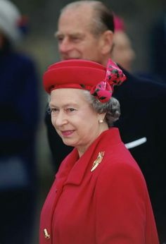 1993: Queen Elizabeth II and Prince Philip attend Maundy service in Wells. The Queen is wearing a hat designed by milliner Philip Somerville.