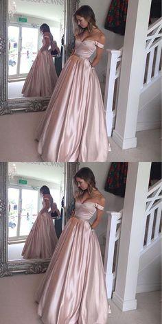 prom dresses, elegant off shoulder prom party dresses, cheap pink prom dresses