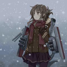 Anime girl with a gun