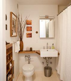 20 banheiros pequenos para você se inspirar & 112 best bath-shelf idea images on Pinterest | Home decor Small ...