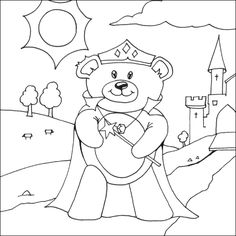 Christmas Coloring Pages Bear For Kids