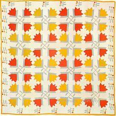 Applique Quilt Blossoms & Berries.  1880-1890, Pennsylvania.