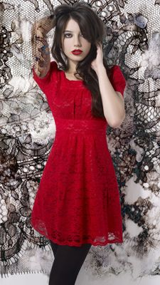 Ruby Red Holiday Dress, daisy lowe