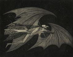 "Joseph Mugnaini, Mr. Moundshroud, version 2, interior art for ''The Halloween Tree"" 1972"