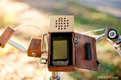 Wooden Detachable Bicycle Stereo for your Smartphone...... $250