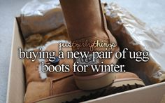 Never really owned a pair of uggs but a knock of pair my bestie bought me. :) - just girly things