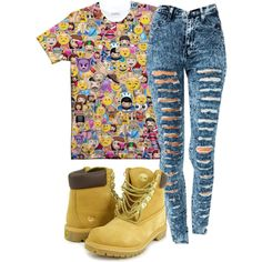 emoji shirts with distressed jeans | fashion emoji outfits emoji queen created by mindless asia 11 months ...