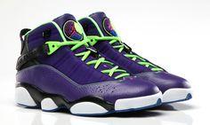 the best attitude 6409c 83252 Nike Mens Jordan 6 Rings Basketball Shoes, Purple, M Us