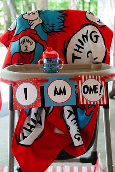 Dr. Seuss Cat in the Hat 1st Birthday Party - Kara's Party Ideas - The Place for All Things Party