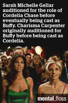 In honor of Buffy the Vampire Slayer's 18th Birthday, did you know that Sarah Michelle Gellar auditioned for the role of Cordelia?