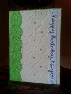 "Geprägte Karte ""Happy Birthday"""