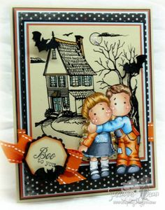 Sister and Brother, Cozy Family collection, Magnolia stamps