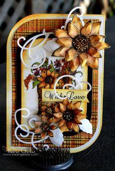 With Love-Classic Sunflower card for Heartfelt Creations by Karan Gerber