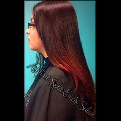 Red ombrè !! ❤️ Contact me at Split Ends Salon (410) 647-7360 to make your appointment!!! Make sure you also follow me on my FaceBook page: Ashli at Split Ends Salon to keep up with deals, specials, advice & tips, and my portfolio ! #red #redhair #redombre #ombre #hair #redken #annapolis #severnapark #baltimore #dmv #splitendssalon #ashliatsplitendssalon