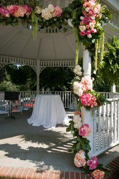 Wedding Gazebo...lots of roses