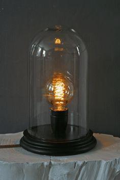 Glass Display Dome Table Lamp