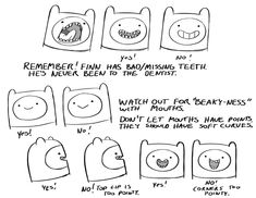 "A sixteen-page manual detailing the intricacies of drawing Finn & Jake from Pendleton Ward's ""Adventure Time"" series."