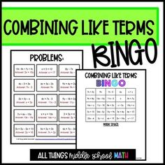 FREE Understanding Integer Exponents: 40 Math Matching Game Cards 8E ...