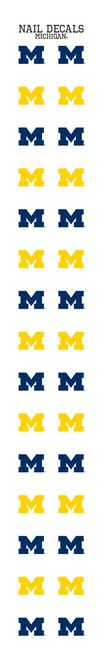 University of Michigan Nail Sticker Decals