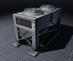 aircon units for roof or to be found at base of vertical food walls.