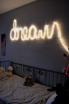 I want to do this in my room so bad, with rope lights. It could spell out anything really. My name maybe?