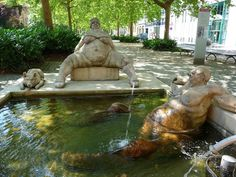 A funny fountain at Konstanz, Germany