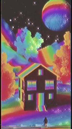 Hippie Wallpaper, Trippy Wallpaper, Retro Wallpaper, Cartoon Wallpaper, Iphone Wallpaper Tumblr Aesthetic, Aesthetic Pastel Wallpaper, Aesthetic Wallpapers, Aesthetic Movies, Aesthetic Art