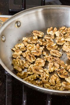 Toasting will get those nutty oils to further perfume your apple strudel.